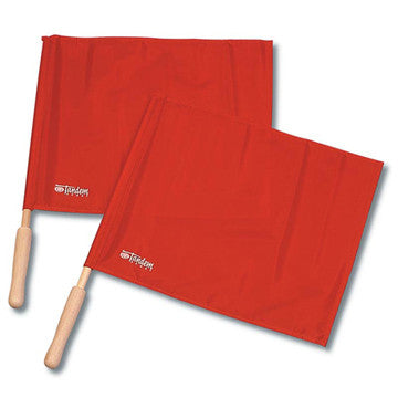 Tandem Flags, Wooden Handle (Set of 2)