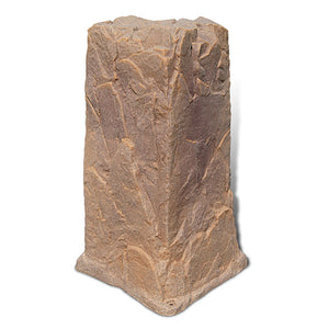 Pedestal Faux Rock Model 113 in Autumn Bluff color