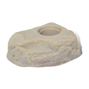 Planter Faux Rock 132 in Sandstone without plant