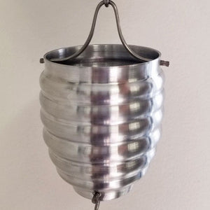 Aluminum Beehive Cup Style Rain Chain