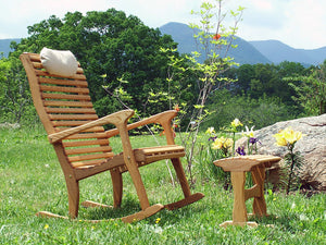 White Oak Foot Rocker with chair