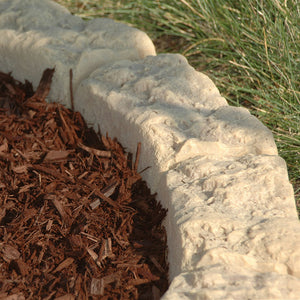 DekoRRa Sandstone Block Edging Kit corner in landscaping