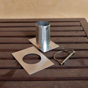 Aluminum Installation Kit disassembled