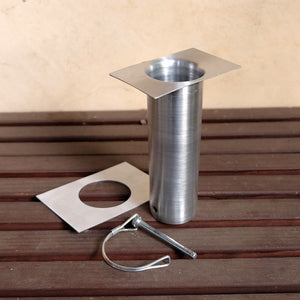 Aluminum long installation kit with D-clip and sleeve detached
