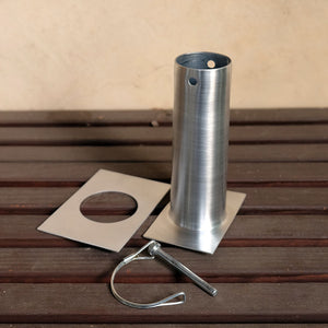 Aluminum long installation kit with D-clip detached