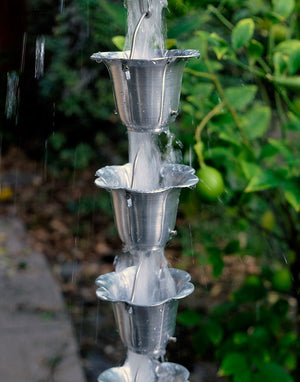 Flower Cups Rain Chain