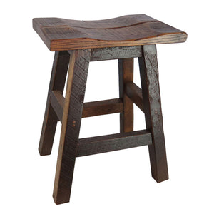 Rustic Barn Wood Bar Stool