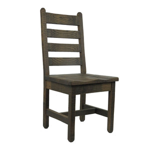 Rustic Barnwood Dining Chair w/ Ladder Back