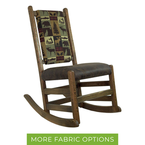 Barn Wood No Arm Rocker with Upholstered Back & Seat