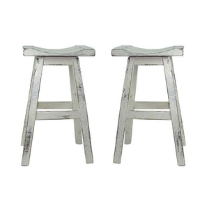 Swivel Saddle Seat Bar Stool (Set of 2)