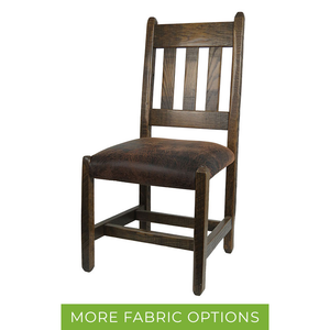 Rustic Barnwood Dining Chair w/ Slat Back & Upholstered Seat