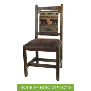 Rustic Barnwood Dining Chair w/ Upholstered Back & Seat