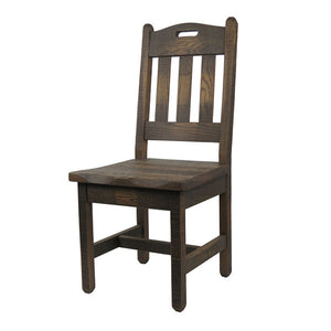 Rustic Barnwood Dining Chair w/ Handle Back