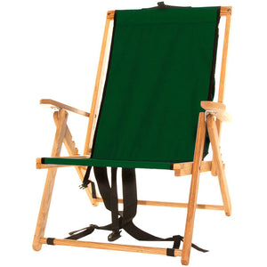 The portable Backpack Chair in forest green
