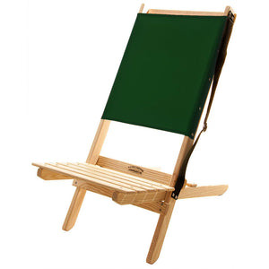 The Blue Ridge foldable Chair with strap in forest green