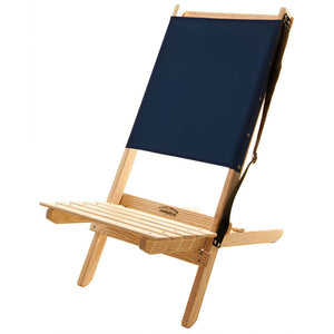 The Blue Ridge foldable Chair with strap in navy blue