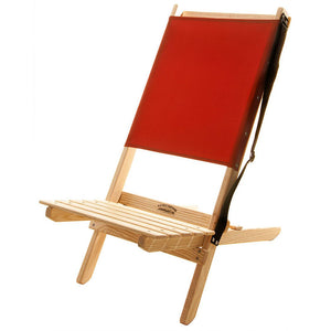 The Blue Ridge foldable Chair with strap in red