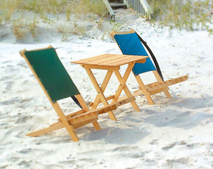 The Blue Ridge Folding portable Side Table at the beach