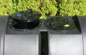 Open lids on Compost Wizard Dual Senior