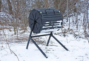 Compost Wizard Insulated Composter Single in cold weather