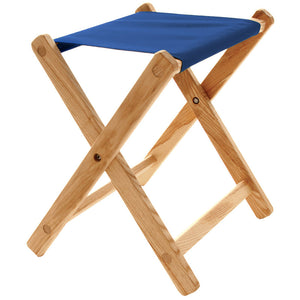 The Deluxe lightweight Folding Stool in atlantic blue