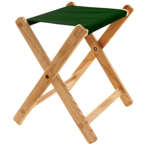 The Deluxe lightweight Folding Stool in forest green