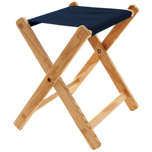 The Deluxe lightweight Folding Stool in navy blue