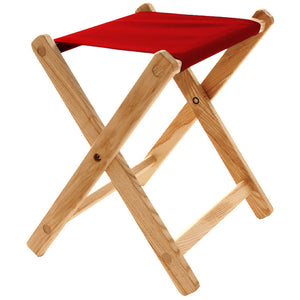 The Deluxe lightweight Folding Stool in red