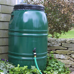 Forest Green Rain Barrel