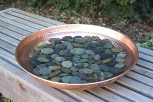 Hand Hammered Copper Dish with decorative stones