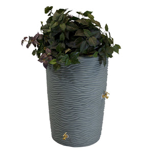 Impressions Palm 50 Gallon Rain Saver Gray