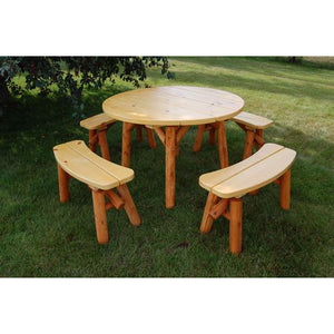 "46"" Round Picnic Table Set"
