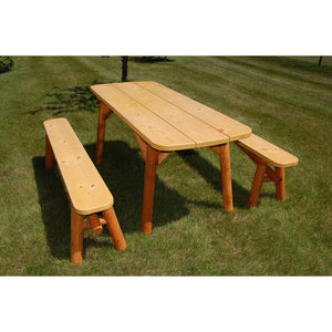 8' Oval Edge Picnic Table w/ Detached Benches