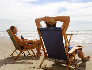 The Outer Banks Chair used by couple at the beach