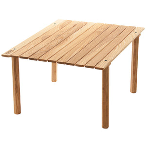 The wooden Parkway Picnic Roll Top Table