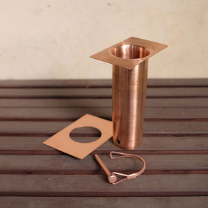 copper long installation kit showing D-clip detached