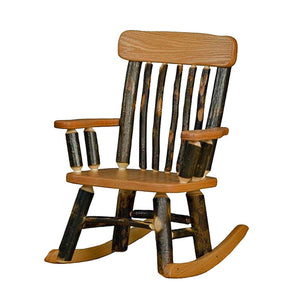 Rustic Child's Hickory Rocker With Spindle Back