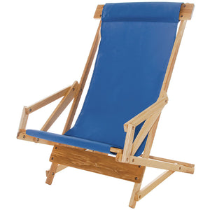 The Sling Recliner in atlantic blue