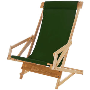 The Sling Recliner in forest green
