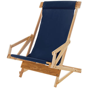 The Sling Recliner in navy blue