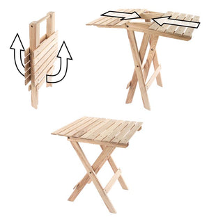 The Blue Ridge Folding Side Table instruction diagram