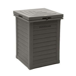 Teak Package Delivery Bin