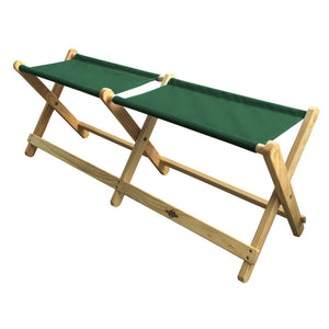 Foldable Voyager Bench in forest green