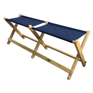 Foldable Voyager Bench in navy blue