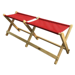 Foldable Voyager Bench in red