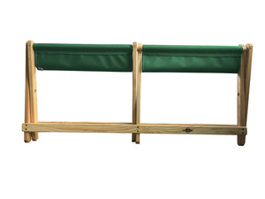Folded Voyager Bench in forest green