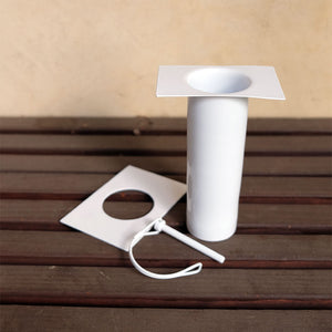 white long installation kit with D-clip detached