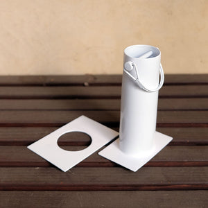 white long installation kit showing additional sleeve
