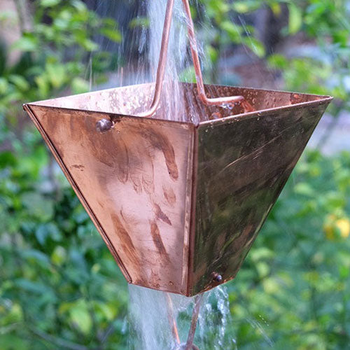 Extra Large Square Cups Rain Chain