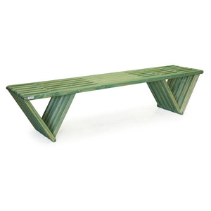 XQuare Wooden Bench X70 Alligator Green